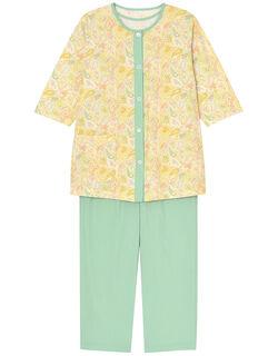 【綿100%】3点セット ハートペーズリー柄 パジャマ