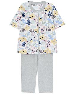 【綿100%】カラーフラワー柄 パジャマ