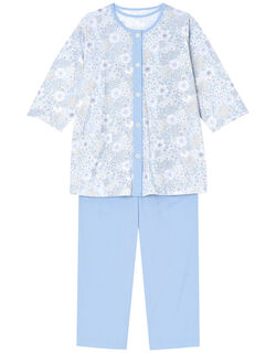 【綿100%】【3点セット】FLOWERS柄 パジャマ