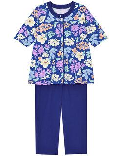 【綿100%】水彩お花柄 パジャマ