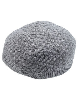 綿混ニット帽子