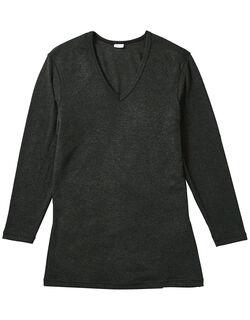プレミアムサーモ 深V首長袖シャツ