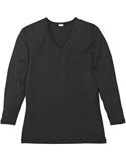 深V首長袖シャツ