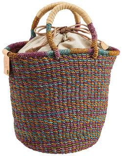 アバカのカラフル編みバッグ
