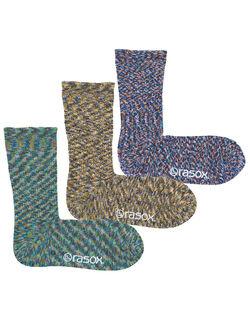 【3色組】 L字型スプラッシュコットンのソックス3色