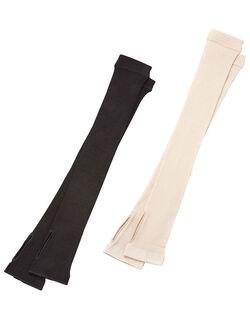 【2色組】 シルク混UVカットアームカバー2色組