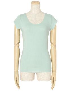 発熱綿 フレンチスリーブシャツ