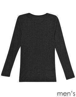 吸湿発熱両面起毛 メンズシャツ(長袖)