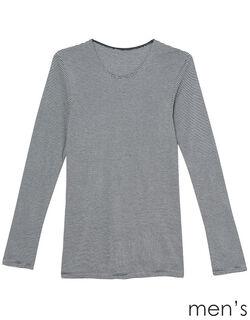 吸湿発熱両面起毛 メンズ長袖シャツ