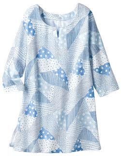 高島楊柳袖付きチュニック
