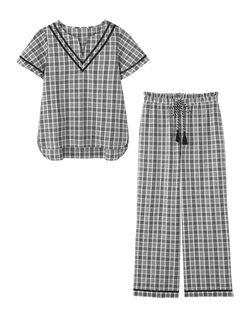 【寝苦しい夜も肌さらり、凹凸感のあるコットン100%で快適】クーリッシュ パジャマ