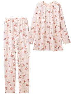 ふくれジャカード花柄パジャマ