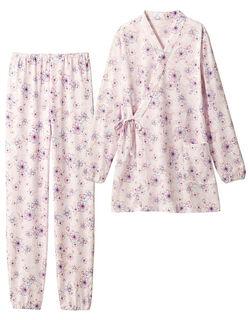 【きもの風】 綿のさわやかきもの風パジャマ