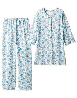 綿100%のブーケ柄パジャマ
