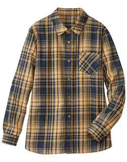 ドビー先染チェックシャツ