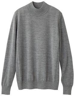 ウォッシャブルウールハイネックセーター
