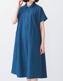 久留米絣ワンピース