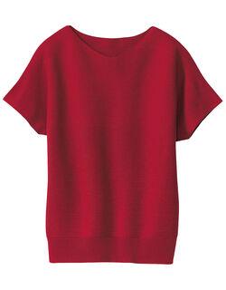 ホールガーメントフレンチスリーブセーター