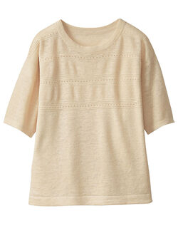 柄編セーター