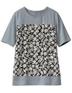 プリント切替Tシャツ