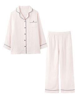 【3重ガーゼの快眠パジャマ!】マシュマロガーゼ(R)シャツ パジャマ