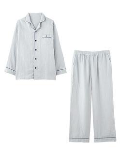 【3重ガーゼの快眠パジャマ!】マシュマロガーゼ(R)シャツ メンズパジャマ