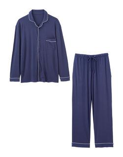 【極上の肌ざわり&体を締め付けない】メンズリラクシングジャージーシャツパジャマ メンズパジャマ