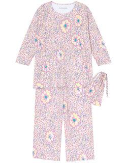 【シルク100%】 巾着付 パジャマ