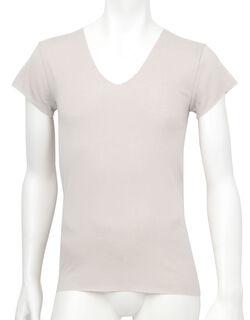 肌さらさら綿フラット メンズシャツ(1分袖)