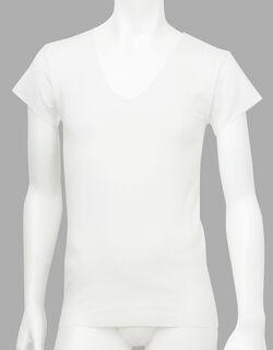 肌さらさら綿フラット 一分袖シャツ