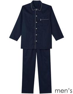 綿サテン メンズパジャマ