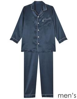 シルクサテン メンズパジャマ