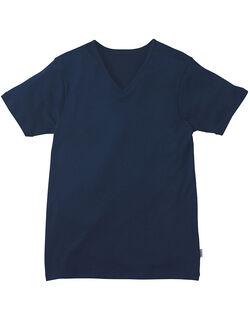 年中使える◎ V首半袖シャツ