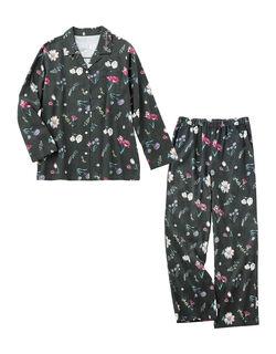 【真冬も暖かい、両面起毛コットンフランネル】両面起毛フランネルシャツ パジャマ