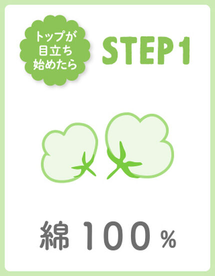 【STEP1】綿100%