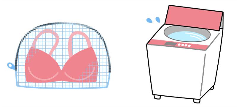 洗濯機洗いのコツ 説明図