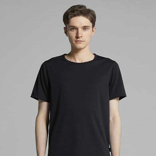 ワコールメン メンズシャツ(丸首3分袖)WL6221 BL