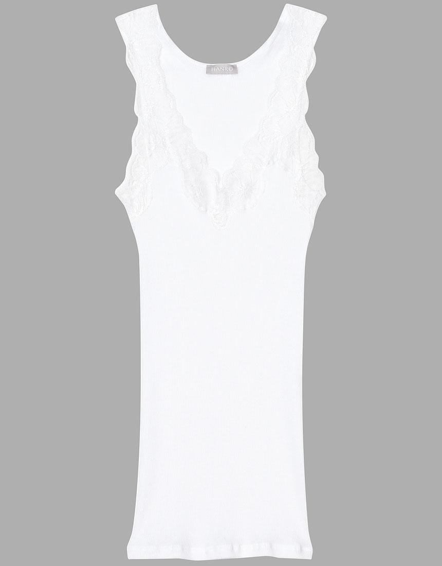ハンロ 【身生地 コットン100%】LACE DELIGHT タンクトップ UIH107・GR