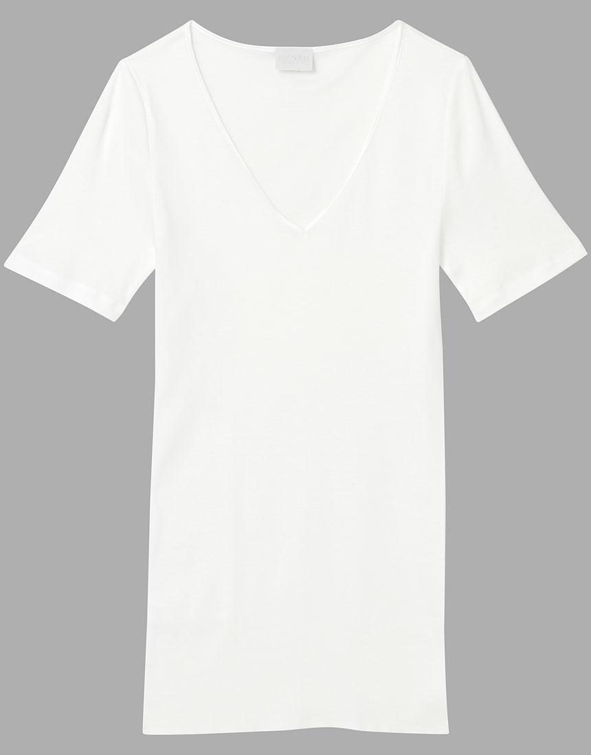 ワコール ハンロ COTTON SEAMLESS 半袖シャツ WH