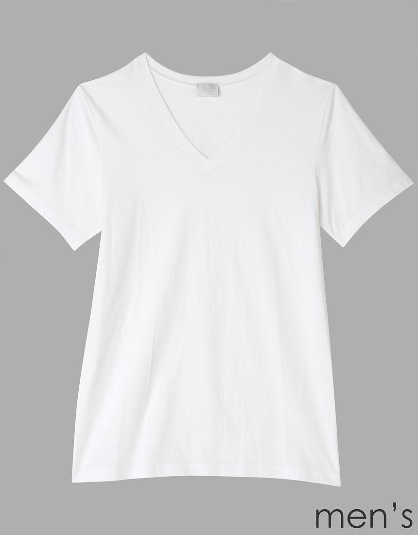 ハンロ COTTON SUPERIOR メンズ半袖シャツ MIH604・WH
