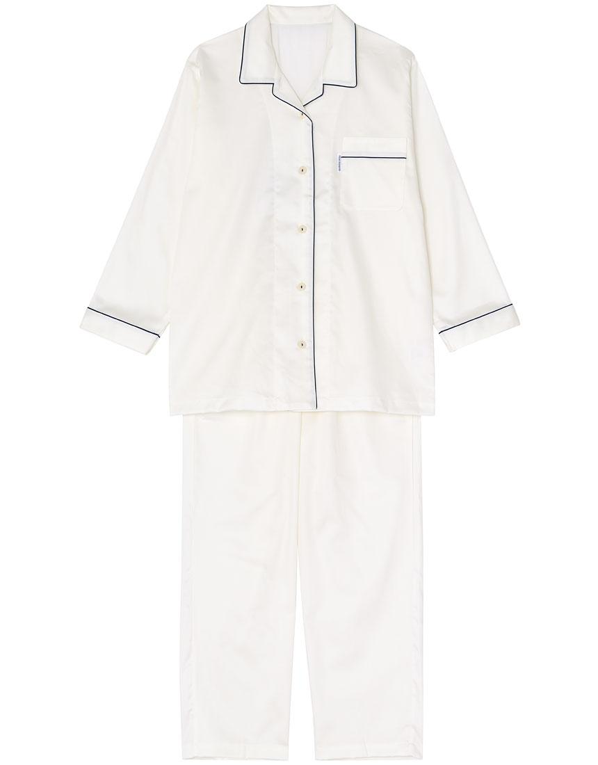 睡眠科学 スーピマ綿サテン パジャマ YDX516・WH