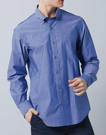 ワコール ラブボディ コットンボタンダウンシャツ(男性用) BU