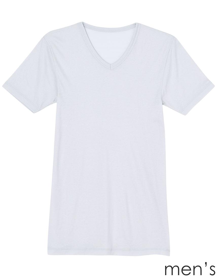 ワコール ウンナナクール 吸湿発熱 メンズ半袖シャツ GY