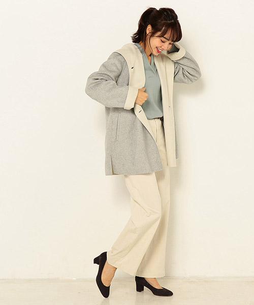 ほんのりオーバーサイズのコートは、着ぶくれしにくいゆったり感が嬉しい