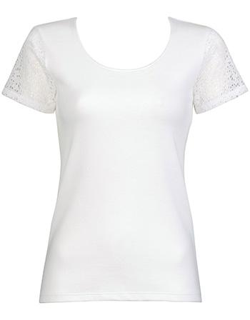 ワコール ニット夏の快適Tシャツ トップ(2分袖)